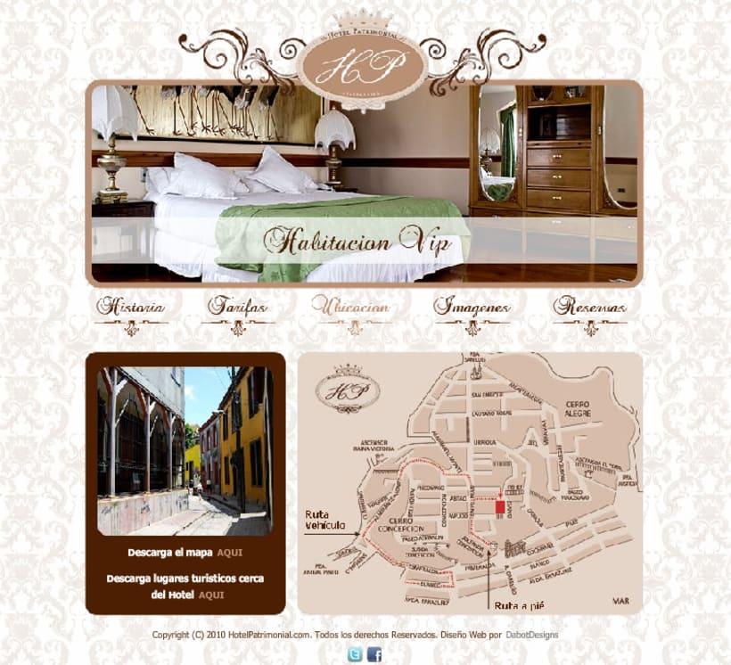 Sitio web Hotel Patrimonial 4