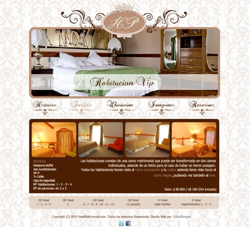 Sitio web Hotel Patrimonial 3