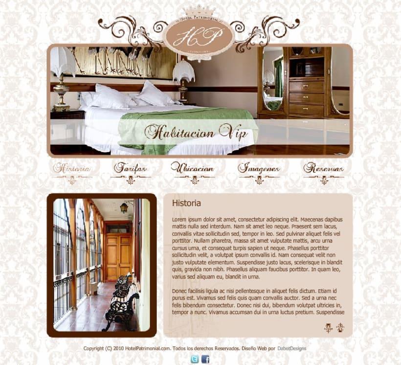 Sitio web Hotel Patrimonial 2