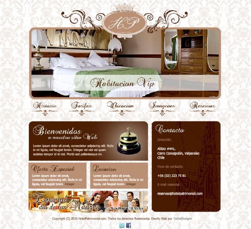 Sitio web Hotel Patrimonial 1