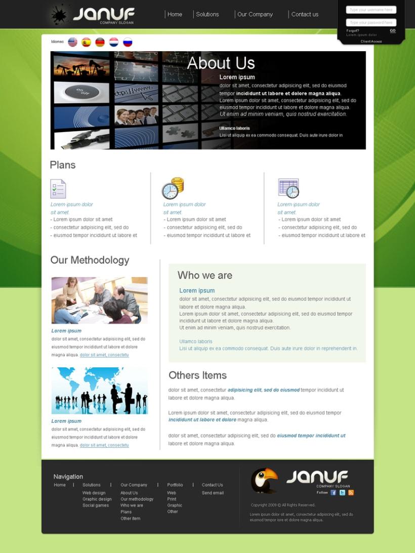 Web y Papelería Januf Designs 5