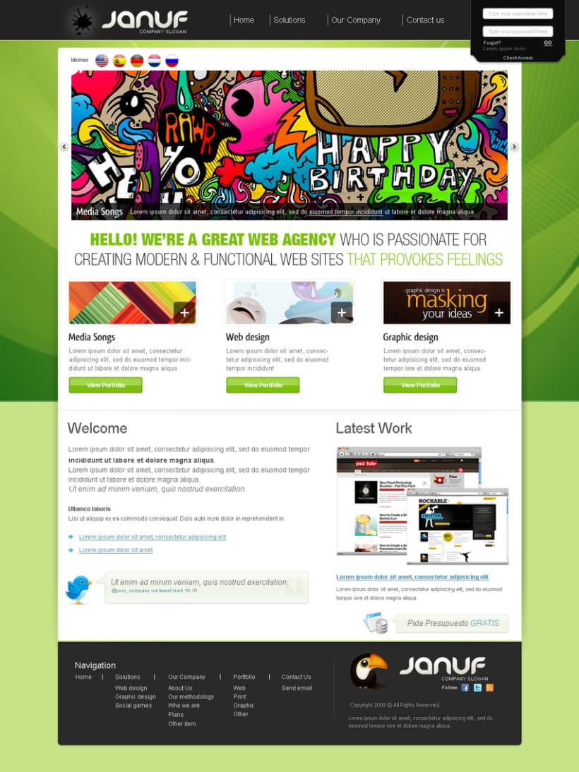 Web y Papelería Januf Designs 4