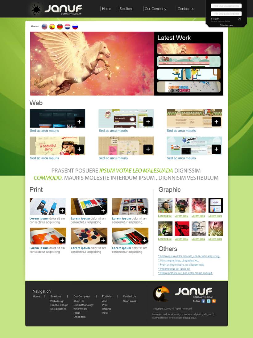 Web y Papelería Januf Designs 6