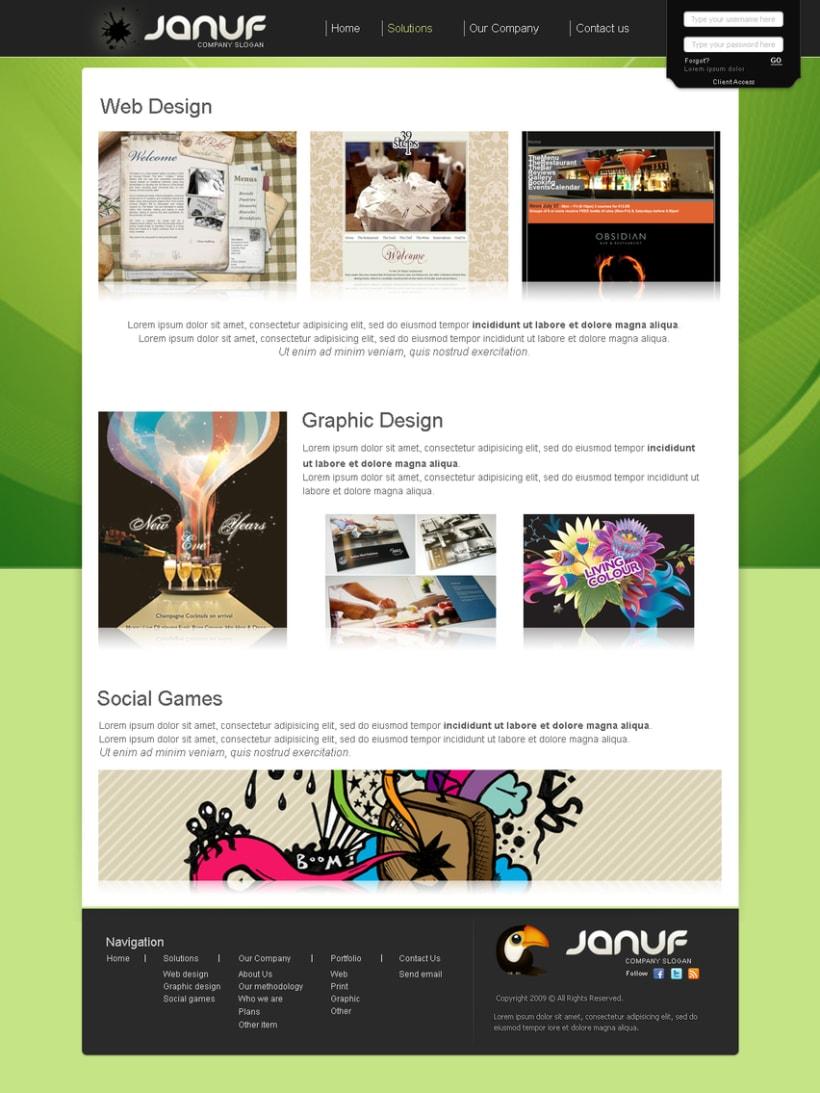 Web y Papelería Januf Designs 7