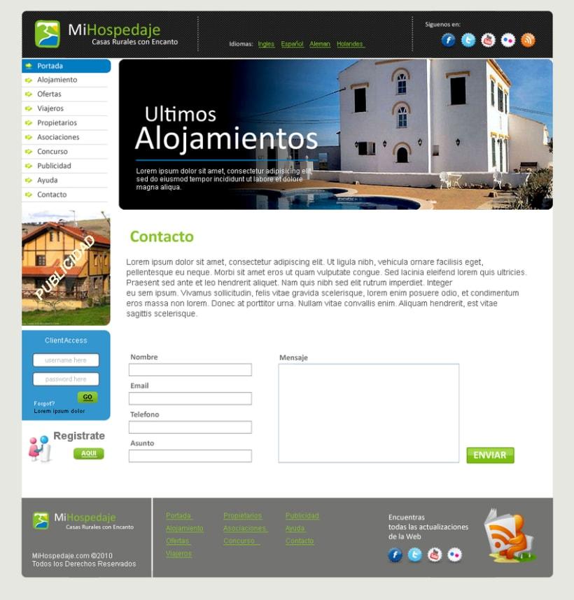 Sitio web Mi Hospedaje 5