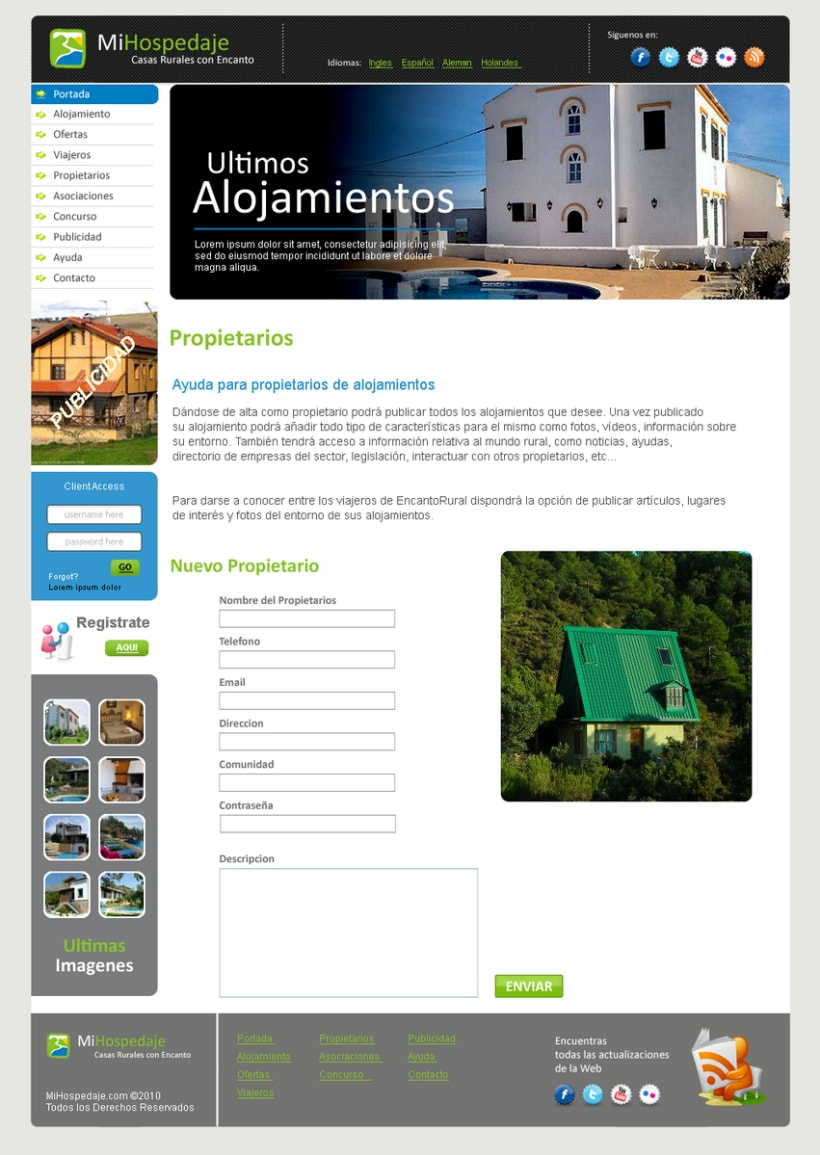 Sitio web Mi Hospedaje 9