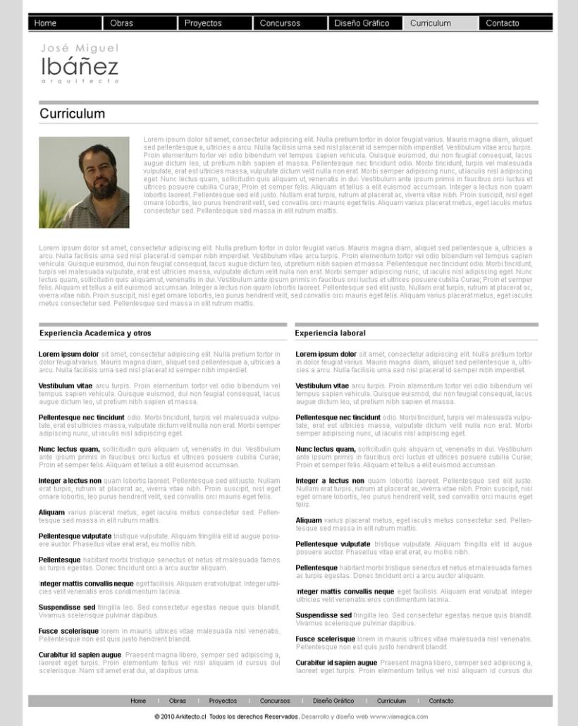 Sitio web Arkitecto 3