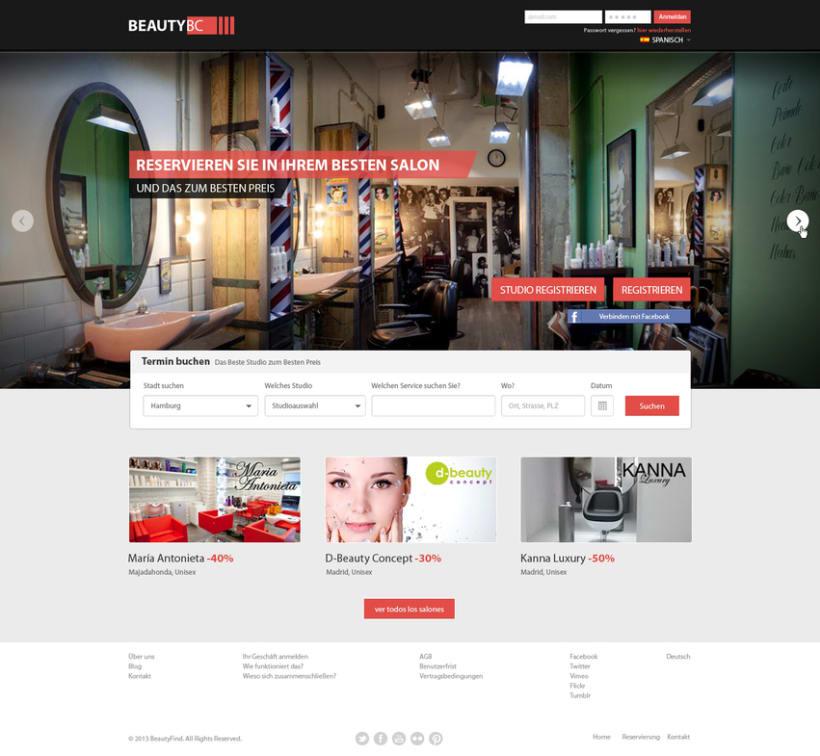 Diseño Web BeautyBC 1