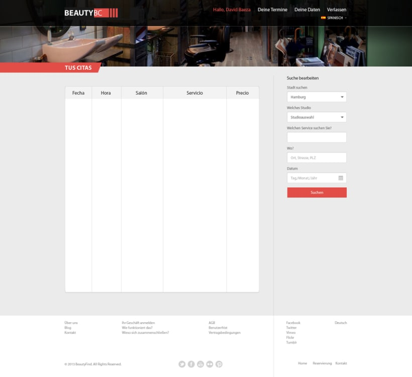 Diseño Web BeautyBC 2