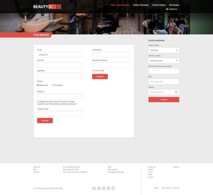 Diseño Web BeautyBC 3
