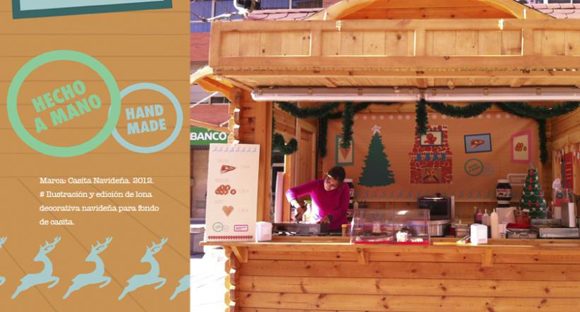 Ilustración para lona y cartel de precios. Navidad. 0