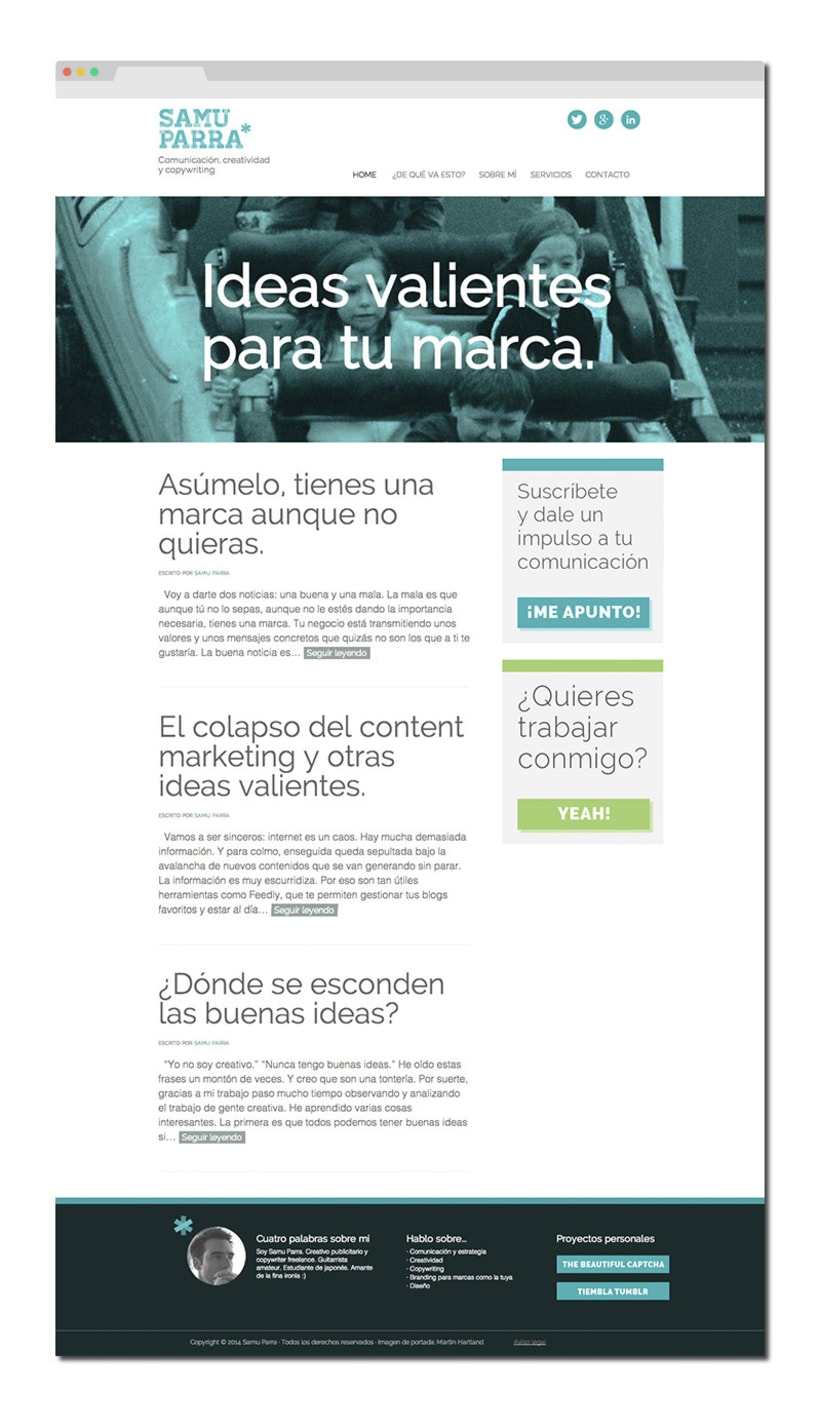 SamuParra.com - Blog sobre comunicación, creatividad y copywriting 0