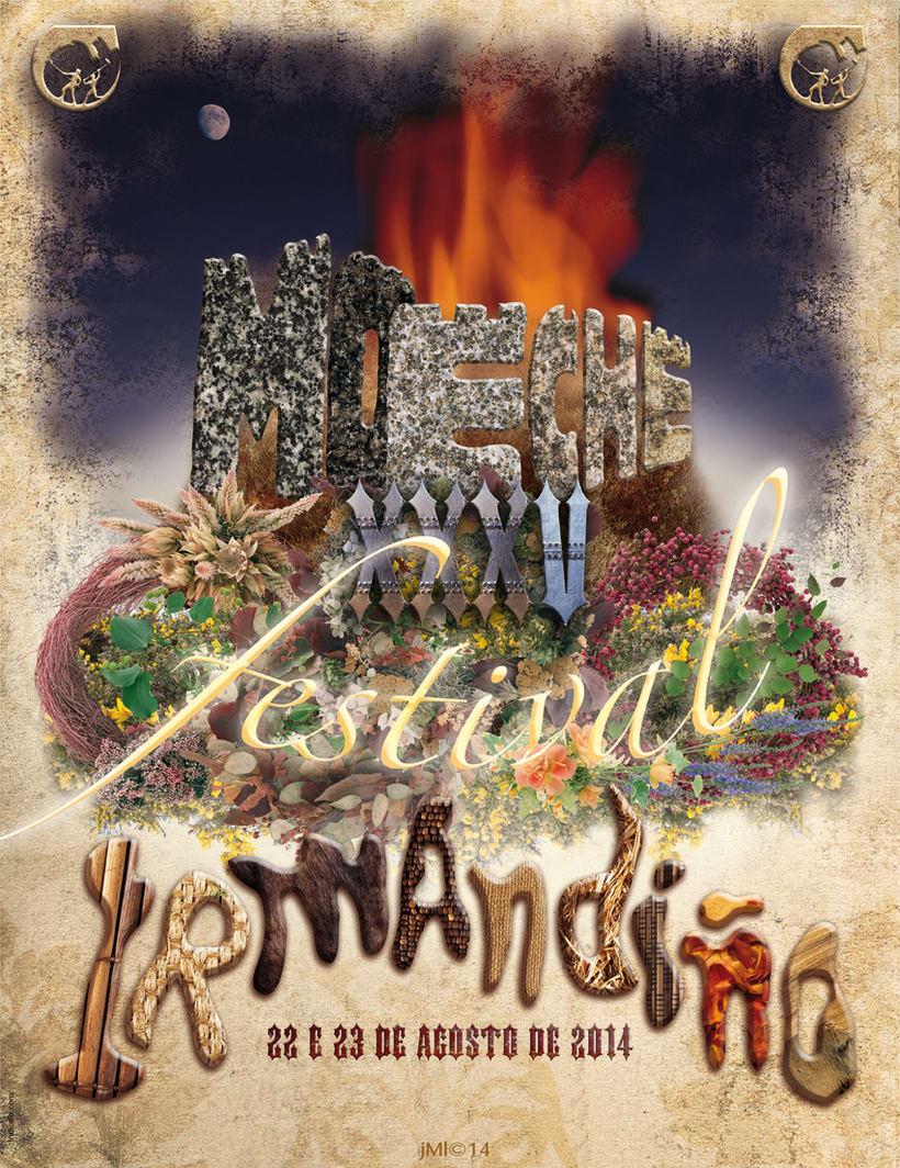 Cartel para el 35 festival irmandiño de Moeche 2014 (A Coruña)  -1