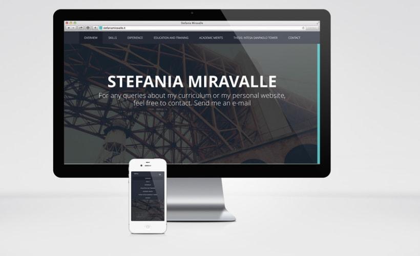 Stefania Miravalle - Currículum Online - Diseño Web 1