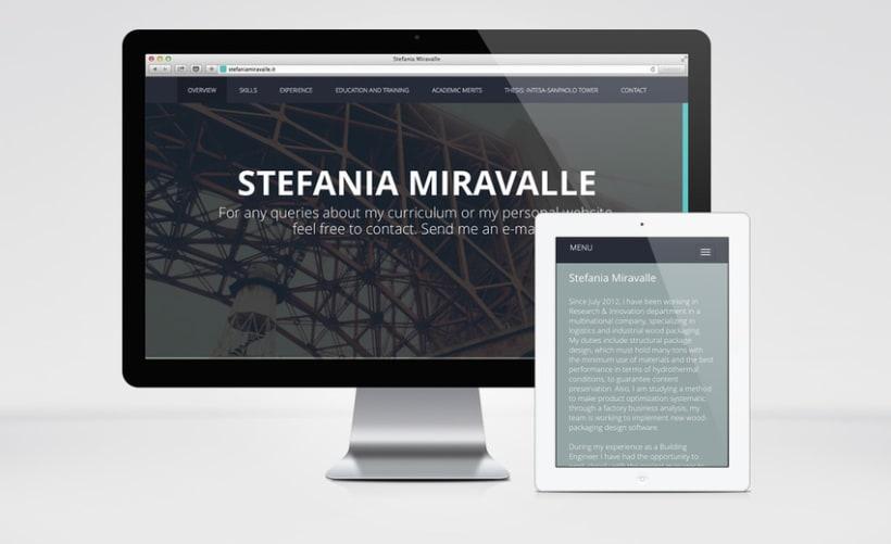 Stefania Miravalle - Currículum Online - Diseño Web 2