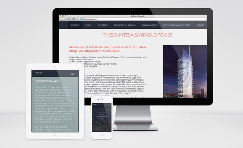 Stefania Miravalle - Currículum Online - Diseño Web 3