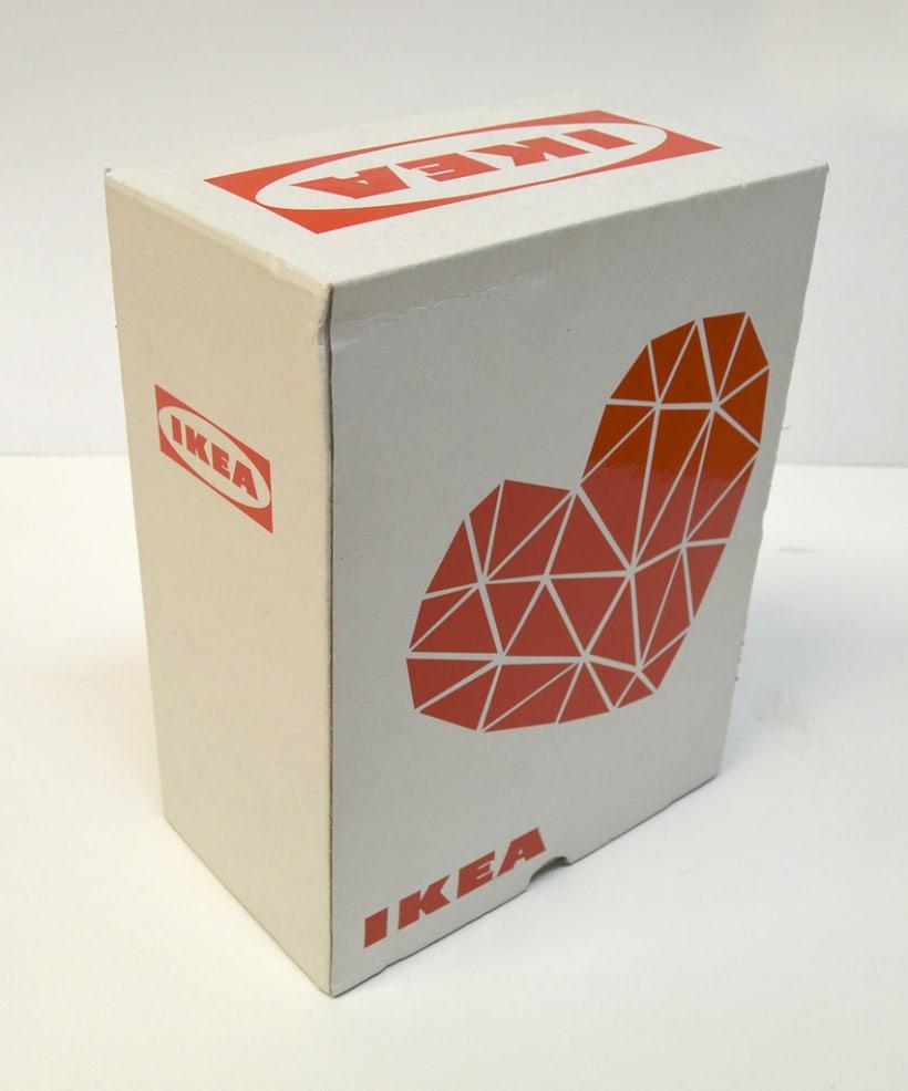 "Packaging: diseño de pack de copas resistente a golpes (San Valentín). Premio Liderpack 2014: Al mejor pack obra de estudiante ""Diseño Joven"" 2"
