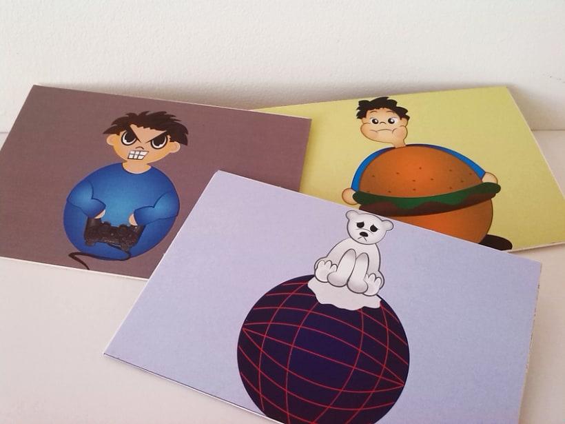 Sostenibilidad: Postales, ilustración, edición, mensaje. 1