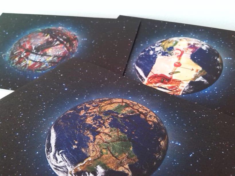 Sostenibilidad: Postales, ilustración, edición, mensaje. 7