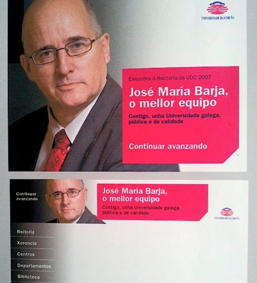 Campaña candidatura Nova Luce á Reitoría. Universidade da Coruña 3