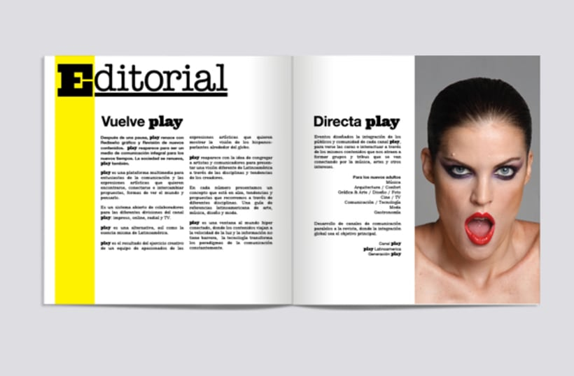 Rediseño Revista Play. Brochure 1