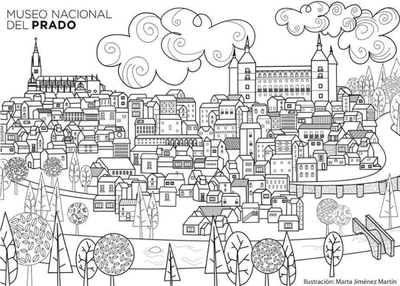 Ilustración Toledo para el Museo Nacional del Prado 0