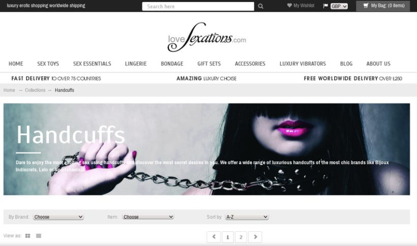 Shopify luxury erotic shop 0