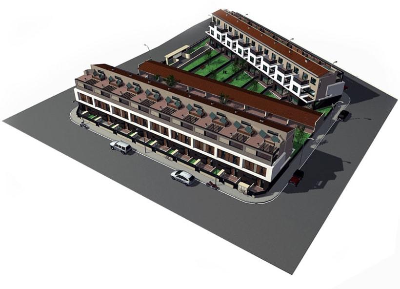 Conjunto viviendas - maquetas 3D 1