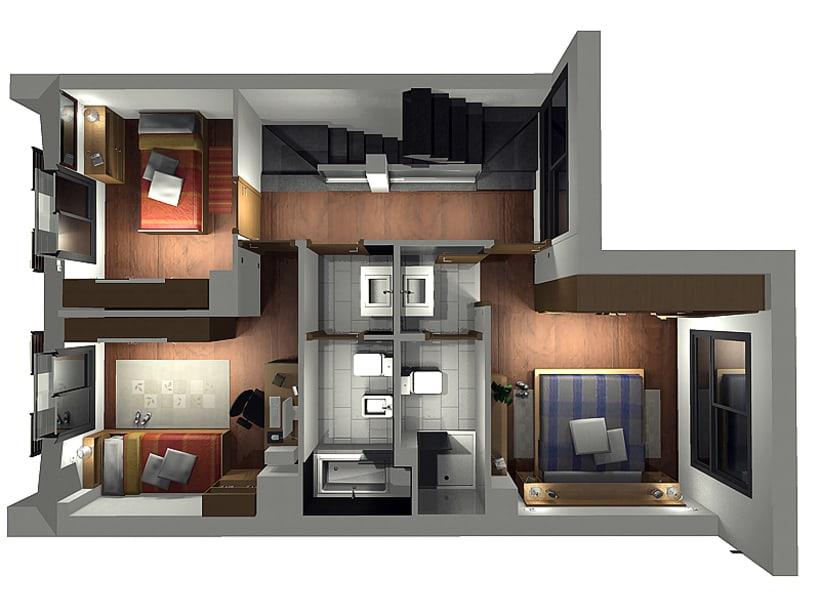 Conjunto viviendas - maquetas 3D 7