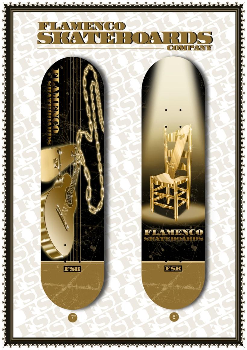 Flamenco skateboards design 0