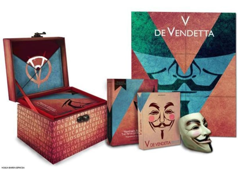 V de Vendetta. Libro de prestigio y merchandising 0