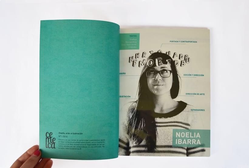 Proyecto personal. Prototipo impreso de la revista Cemeica 2