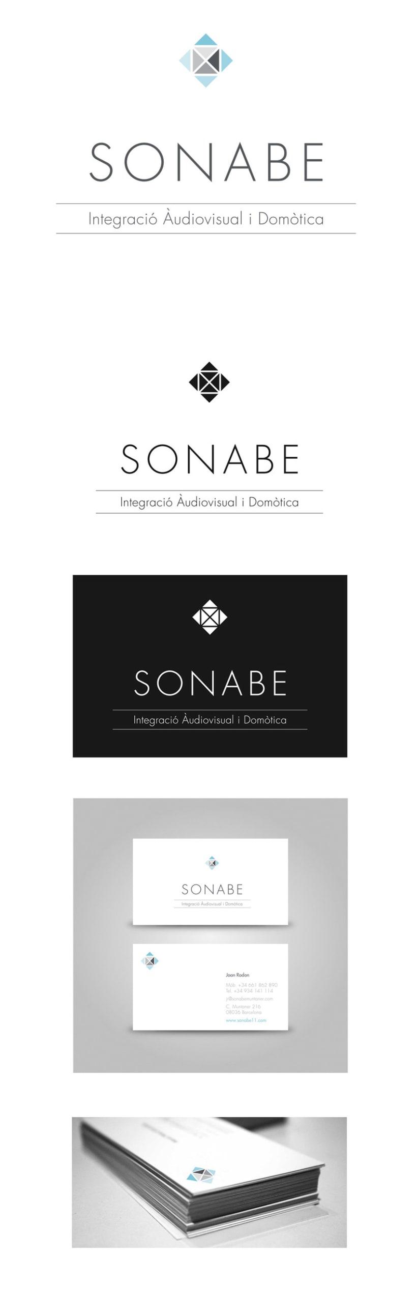 Diseño Logotipo y tarjetas de visita. SONABE. BCN 2013 0
