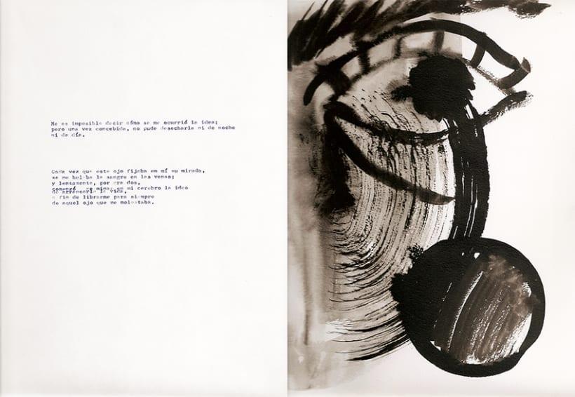 El corazón delator, ilustraciones abstractas 1