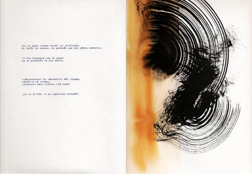 El corazón delator, ilustraciones abstractas 5