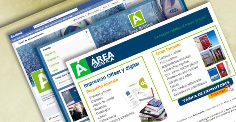 Web y redes sociales Áreagrafica -1