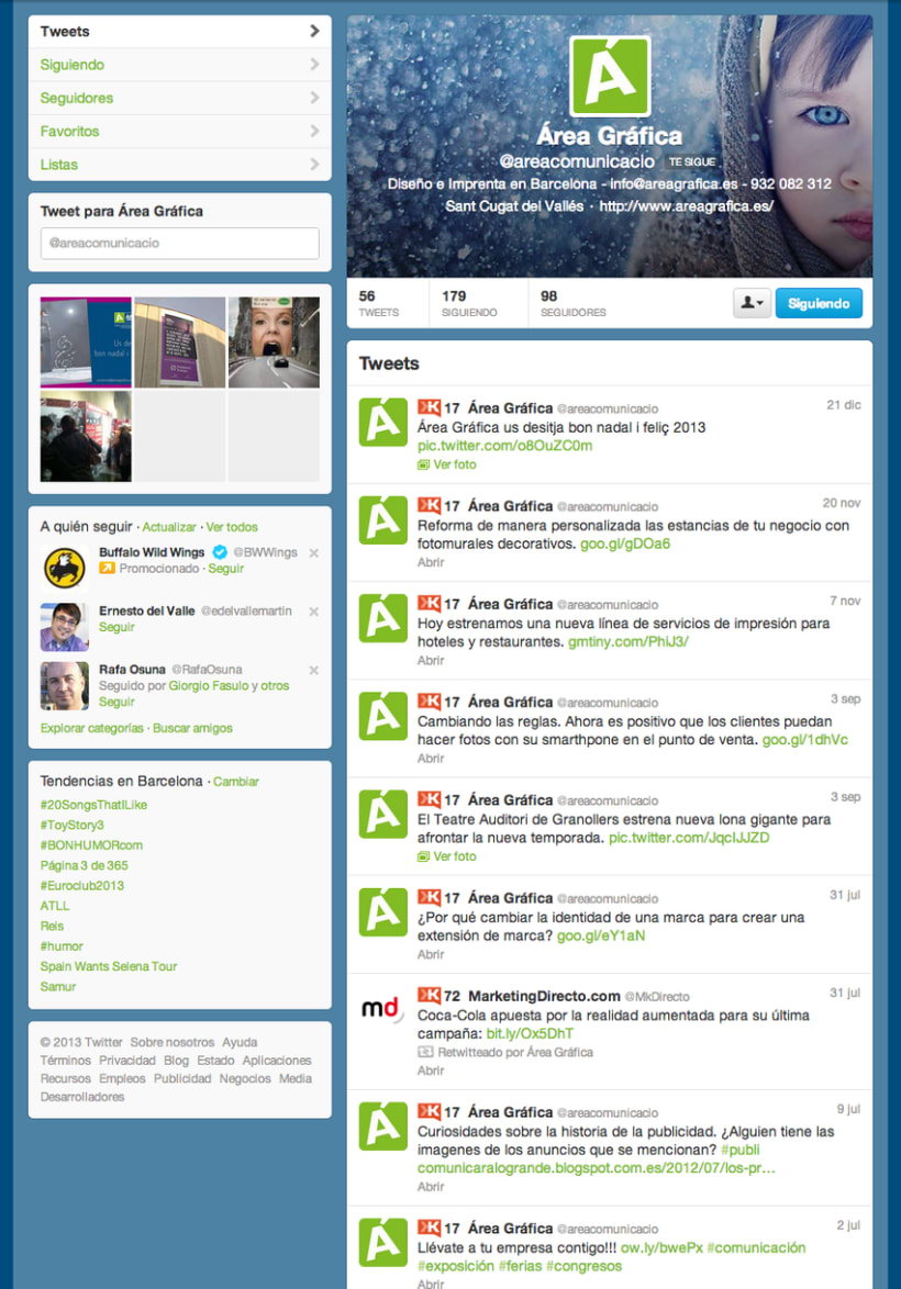 Web y redes sociales Áreagrafica 0