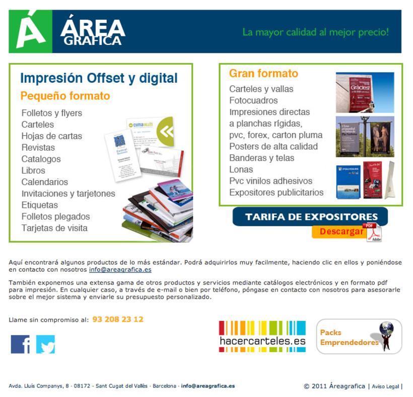 Web y redes sociales Áreagrafica 2