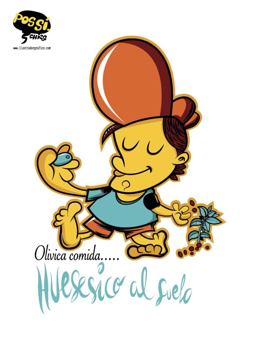Pos Si ,Chica ( ilustración con mensaje ) 14