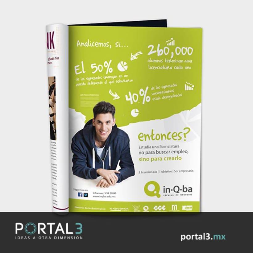 Publicidad para inQba Escuela de Negocios -1