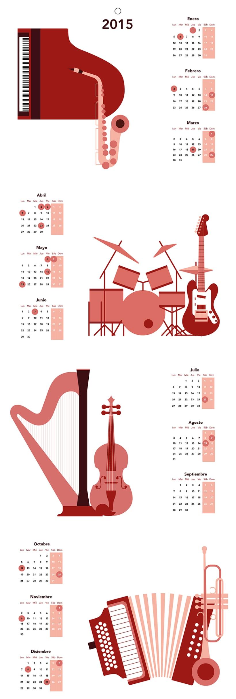 Calendario Instrumentos Musicales 0
