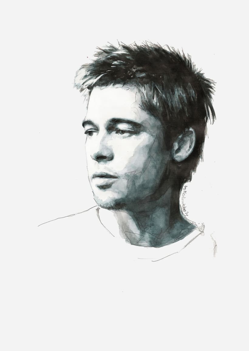 Portrait of Brad Pitt 0