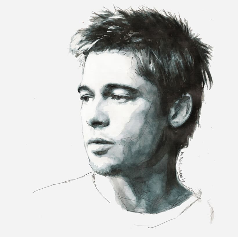 Portrait of Brad Pitt 1