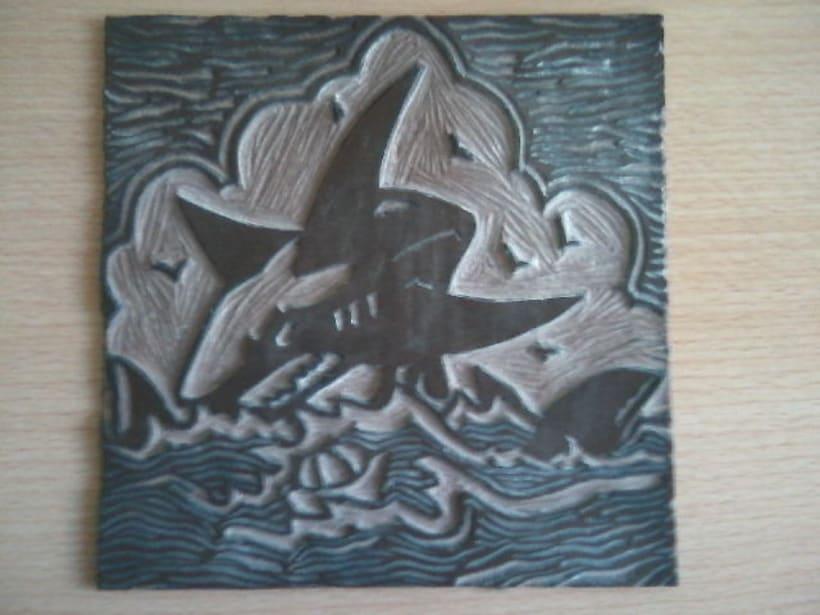 Linoleum Tiburón 1