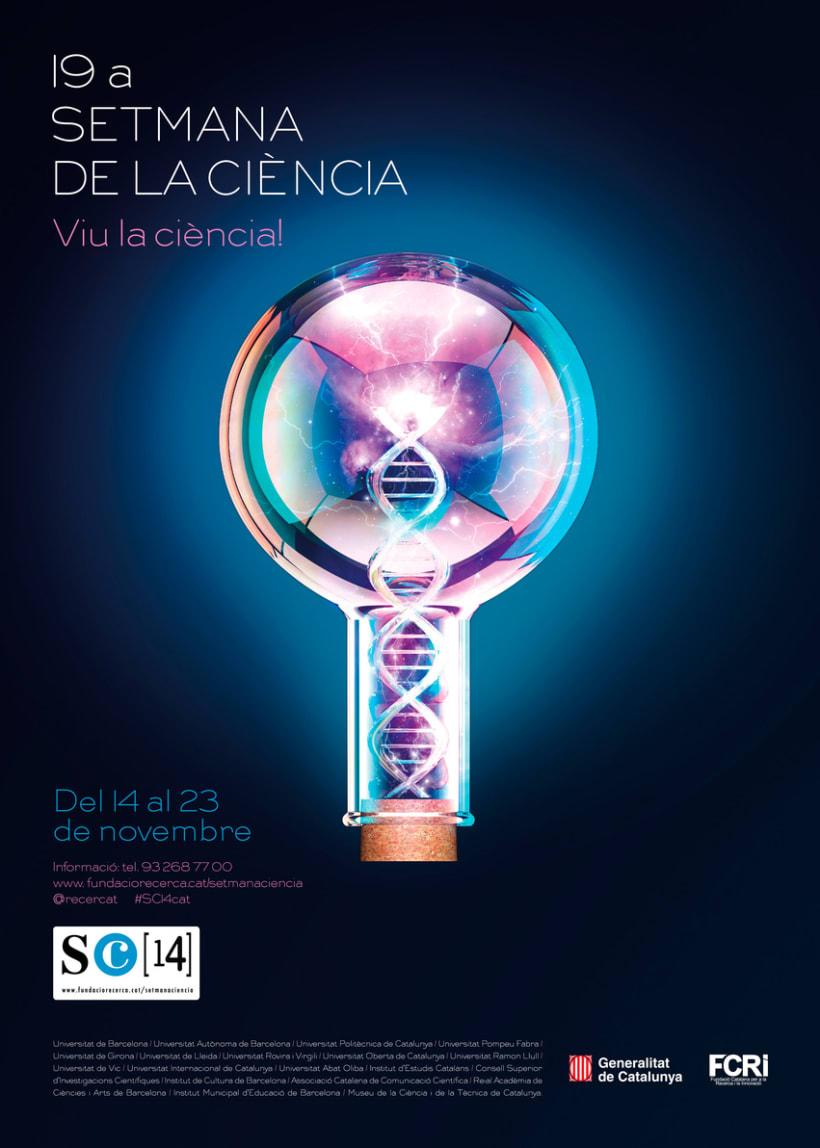 Cartell  19a SETMANA DE LA CIÈNCIA (Biotecnologia) -1