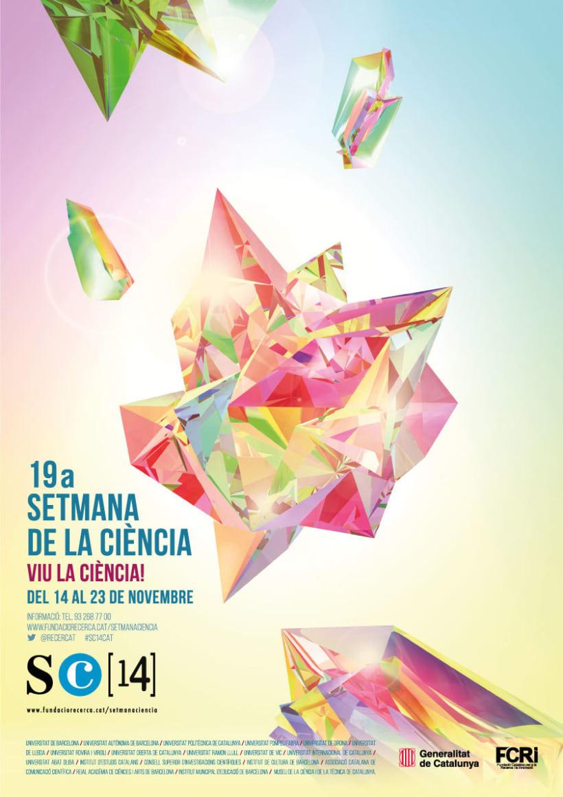 Cartell  19a SETMANA DE LA CIÈNCIA (Cristal·lització) -1