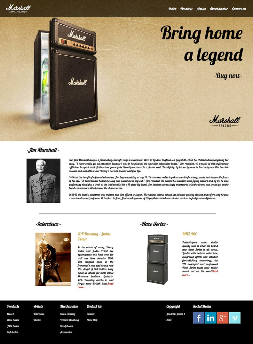 Marshall Amps Web 3