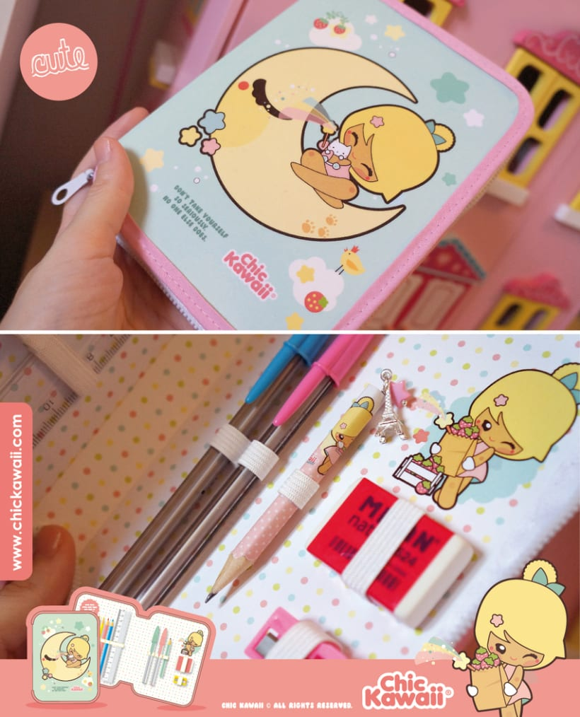 Estuche escolar Chic Kawaii 0