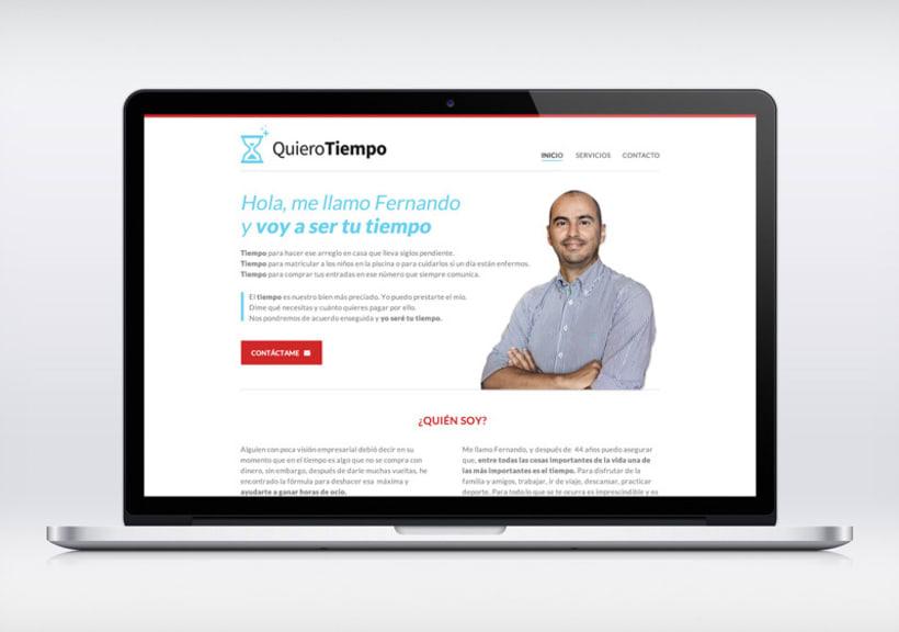Quiero Tiempo, diseño web e identidad de marca -1