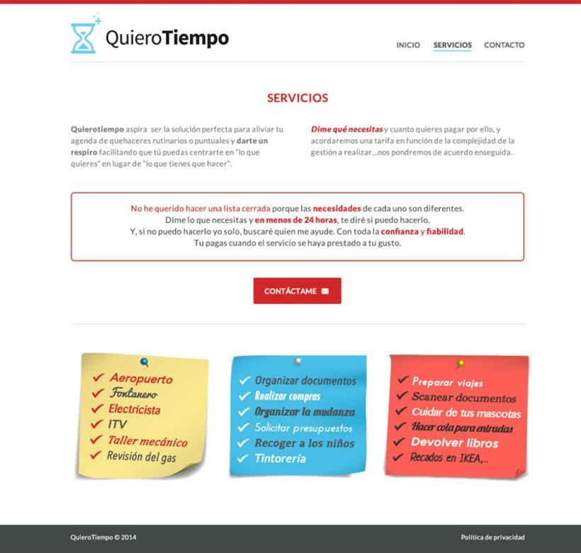 Quiero Tiempo, diseño web e identidad de marca 2